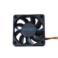 T2N2 60x60x15mm 3 Pin 12V Case Computer Cooler Cooling Fan PC Black E