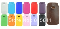 for Samsung i9100 Galaxy SII  Pull Tab PU Leather Pouch Case MOQ:1pcs