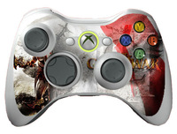 War Pop Game 1 pair 2pcs Skins Vinyl Sticker Cover for X box 360 Slim Controller Wholesale Price Free Shipping