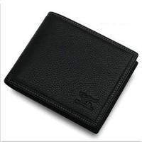 Promotion !! Hot Sale Wallet Men Genuine Leather Brand Designer 2013,Man Leather Short Purse/Wallets For Men Wholesale QB -39X2