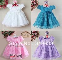 Baby dress girl's TuTu kids Girl party wedding purple flower princess garment dresses 1130 A xj