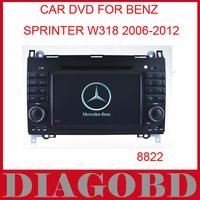 Windows CE Version for Benz Sprinter W318 2006- Car DVD Player with GPS RDS radio bluetooth car dvd
