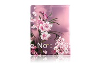 Luxury Violet Flower Leather Case For Apple iPad 3 4 With Stand  New Arrive