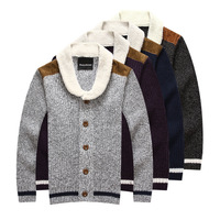 men's winter warm cotton-pad thickening european fashion pullover men brand coat cardigan parkas fur sweater casual polo MANZ051