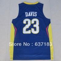Buy Christmas Gifts.2013 New Season Mens Cheap New Orleans #23 Anthony Davis Home Blue Team American Basketball Sports Shirt