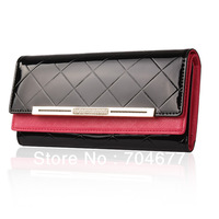 Women Cowhide Genuine Leather Long Luxury Circular Sector Clutch Handbag Ladies Travel Wallet  Hasp Zipper Women's Diamond Bag