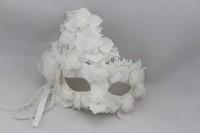 Free Shipping Masquerade masks artificial mask lace mask halloween princess white male Women