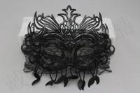 Free Shipping Masquerade princess mask male Women feather lace full white metal cutout tieyi mask