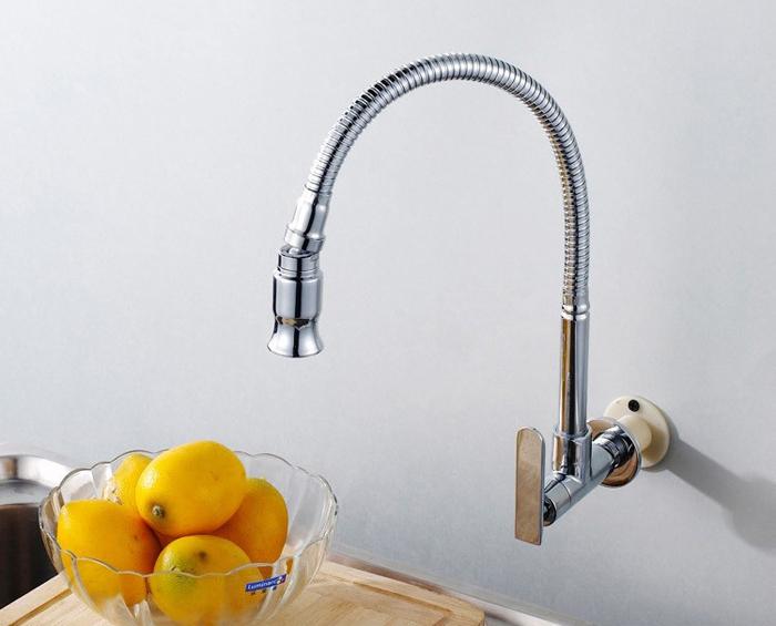 Keukenkraan Muur : Wall Mount Kitchen Sink Faucet