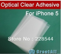4'' inch OCA optical clear adhesive,double side sticker for iPhone 5,250um thick,92mmX53mm,free shipping