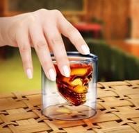 free shipping 10pcs/lot Doomed Crystal Skull Shot Glass/Crystal Skull Head Vodka Shot Glass