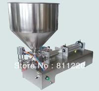 Pneumatic pasty food filling machine sticky liquid stuff filler stainless SS304,hot sauce bottling equipment,beverage packer 300