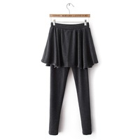 Free Shipping 2013 Culottes Legging Trousers Basic Plus Velvet Thickening