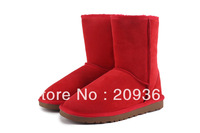 Australia classic 5825 tall cowhide genuine leather snow boots warm shoes for women ladies Winter Classic Short Shoes