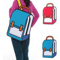 Hot-selling top cartoons bag 2d stereo school bag 3d backpack school bag