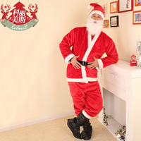 Men plush christmas clothes silveryarn set christmas costume christmas free shipping