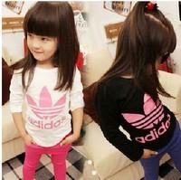Autumn long-sleeve t-shirt kids flower girl's t shirt children's clothing fashion top girls kid's tshirt