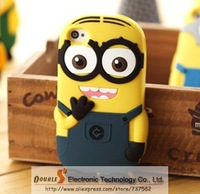 New arrival soft rubber Despicable Me minions case for iphone 4s 5s 5c  Samsung S3 I9500S4 note3 note2 xiaomi 2S free shipping