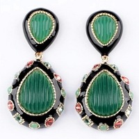 New Green Folk Style Drop Earrings Jewelry For Women Free Shipping Min.order is $15(mix order)
