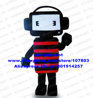 Music Robot Mascot Costume Radio Wireless Receiver Loudspeaker Box Voice SoundBox No.3937 Free Ship