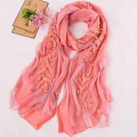 Double layer scarf women's gs-6912 silk scarf cape scarf dual wa229