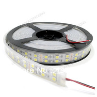 2pcs/lot  promotion DC 12V Silicon Waterproof Double Row 120 leds/M 5M 600 5050 SMD Strip Bar Light