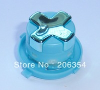 Free shipping,5pcs Chrome Blue/ Light Blue transforming rotating dpad for New Version xbox360 controller