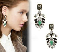2013 fashion accessories alloy gem elegant luxury stud earrings,Free Shipping