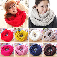 Male Women yarn knitted muffler scarf large scarf thickening thermal thick yarn scarf muffler a868