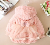 Free Post Cub Korean children winter autumn and winter female baby princess hooded coat thick coat