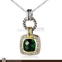 New! Booming Fashion Jewelry SETS , Emerald Quartz 925 Sterling Silver Pendant P0390