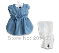 Baby Denim Suit Child Jeans Tops Pants 2 Piece Sets for Girls Summer Kids Clothes Toddler Outfit Bebe Clothing Children's Wear