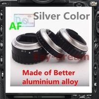Silver Aluminum Alloy Electronic AF TTL Auto Focus Macro Extension Ring Tube For Canon EOS 60D 650D 1DX 1100D EF EF-S Len PR017