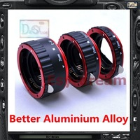 Red Aluminum Alloy Electronic AF TTL Auto Focus Macro Extension Ring Tube For Canon EF EF-S 60D 650D 700D 70D 1DX 1000D 1200D