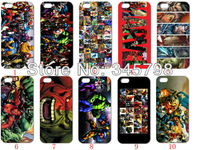 Comic book hero 10PCS/LOT(10style) Marvel Community hard case back cover for iPhone5 5th 5S+free shipping