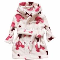 Children's clothing 2013 child sleepwear robe bathrobes child flannel sleepwear female child thermal clothing