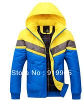 2013 autumn winter fashion detachable cap leisure men's down Parkas jackets & top quality cotton-padded coats men free shipping