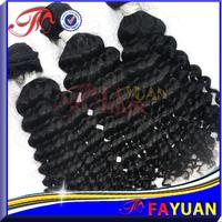 Fayuan hair:Free shipping queen 3pcs lot virgin ocean tropic kinky curly,unprocessed cambodian deep curly hair,1b no tangle