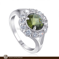New! Vintage in Fashion Jewelry Emerald 925 Sterling Silver Ring R1199