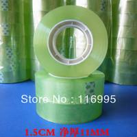 Free shipping 8pcs Adhesive tape stationery glue small transparent glue handmade plastic 1.5cm small plastic packaging