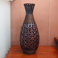 American classic bamboo vase flower fashion floor vase artificial flower vase decoration