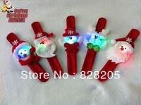 Free Shipping Christmas Light wristband with Santa Claus Christmas gifts wholesale kids toys wristband 20pcs/lot