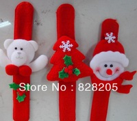 Free Shipping Christmas wristband with Santa Claus Christmas gifts wholesale kids toys wristband 20pcs/lot