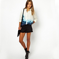 2013Free shipping /floral shirt/ ladies chiffon tees/T-shirt/noble vintage/