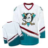 Kids Mighty Ducks Anaheim Hockey Jerseys 1996-06 White/Green, Hockey Team Jerseys - Custom Any Number, Any Name Sewn On