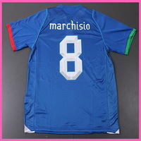 2014 Factory Price Embroidery Logo Italy MARCHISIO Home Soccer Jersey,Original Quality Italy 13/14 MARCHISIO Shirt,Thai