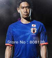 Japan 2014 world cup Home blue soccer jersey top Thailand Quality 3A+++ Football uniforms Men shirts Japan national team
