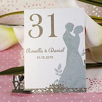 Free Shipping Personalized Lover Table Number Card/Wedding Decoration/Garden Supplies(Set of 10)