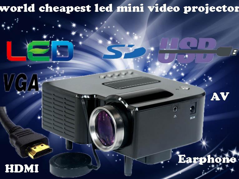 Cheaper ! Pocket Protable Mini micro projectors Game Digital LED HDMI Video Projector 60Lumens with HDMI,VGA, AV, USB,SD Card(China (Mainland))