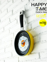 Clock omelette pan wall clock fashion wall clock personality pocket watch